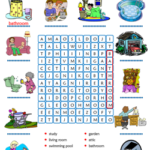 Parts of the house word search