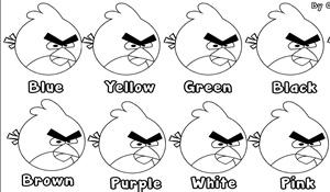Angry Birds Colors Worksheet Ilkokul Ingilizce Ogretmenleri