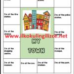 3.Sınıf -My Town-Kes,Yapıştır Etkinliği(Renkli)