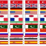 Ülkeler Bayrak Set