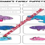 Shark's Family Puppets  (bw – colored)