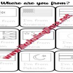Where are you from? Tracing Worksheet