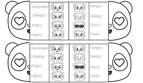 Feelings Panda Worksheets