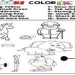 Look and Color the Adjectives