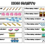 How many? Worksheet /colored