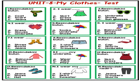 Clothes and Weather Test