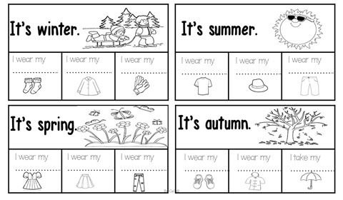 Seasons and Clothes Tracing