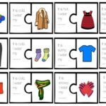 My Clothes Tracing Puzzle Worksheet