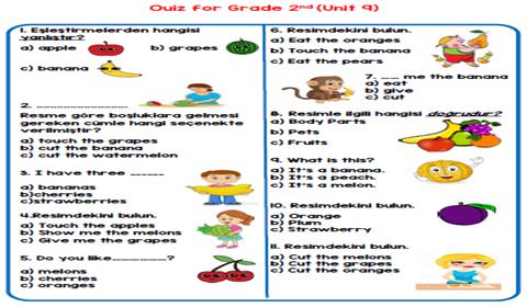 2.Sınıf 9.Ünite Test
