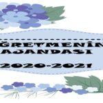 2020-2021 Öğretmen Ajandası (Editlenebilir)