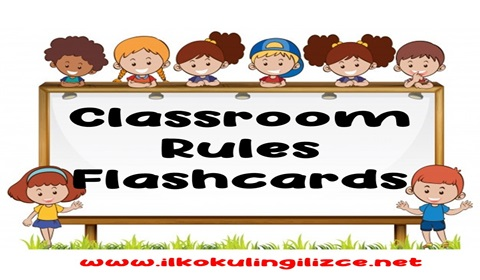 Classroom Rules Flashcards Pack