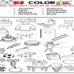 Look and Color the Classroom Objects