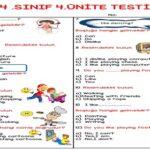 4. Sınıf İngilizce 4. Ünite Testi (25 Soruluk)