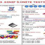 3.Sınıf 5.Ünite Testi (25 Soruluk)