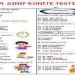 4.Sınıf 5.Ünite Testi (25 Soruluk)